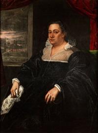lebensgrosses portraitbildnis der dogaressa (gemahlin des venezianischen dogen) by domenico tintoretto