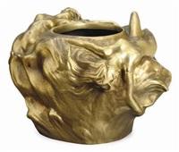 vase by leopold pierre antoine savine