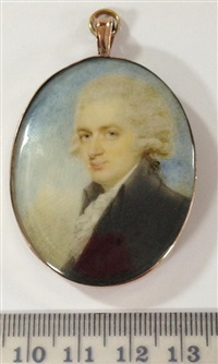 portrait miniature of sir edward hyde east (1764-1847), 1st baronet by edward miles