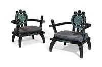 armchairs (pair) by ettore zaccari