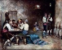 escena de taberna by antonio amorós botella