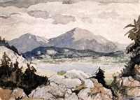 lake district (derwentwater?) by adolphe valette