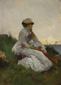 pensive by alfred stevens