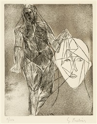 femme debout et visage (+ homme debout; 14 works) by germaine richier