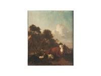 paisaje con ganado by adriaen van de velde