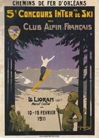 le lioran concours de ski du club alpin français by marcel-j.-l. jacquier