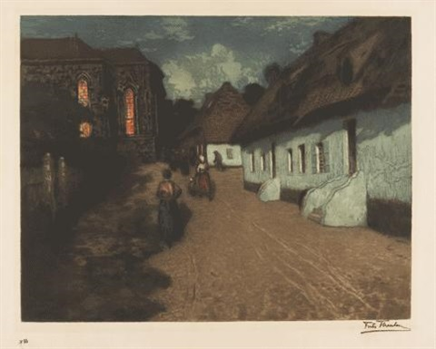 mois de marie (marias måned) by frits thaulow