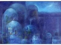 blue domes by suad al-attar