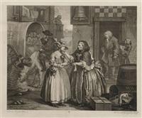 a harlot's progress, plates 1-6 (6 works) by william hogarth