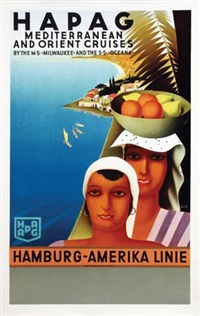hapag mediterranean and orient cruises by otto arpke
