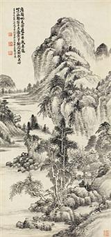 山居图 立轴 纸本 by xiao junxian