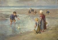 by the sea by bernardus johannes blommers