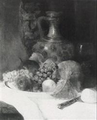 fr_chtestilleben mit steinzeugkrug by karl albrecht