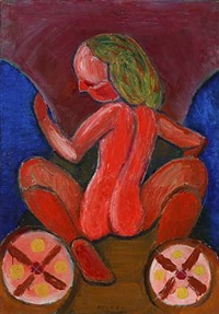 den røde pige (the red girl) by henry heerup