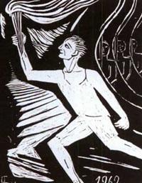 man with a torch by varvara dmitrievna bubnova