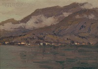 lake como, italy by charles warren eaton