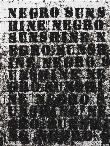 negro sunshine 2 by glenn ligon