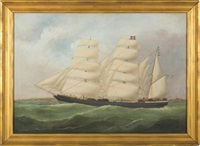 the bark america off le havre by marie-edouard adam