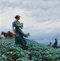 the cabbage field by charles courtney curran