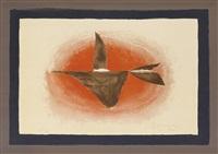 au couchant (oiseau xvi) by georges braque