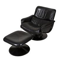 saturnus, armchair and stool by yrjö kukkapuro