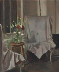 covered chair by john currin