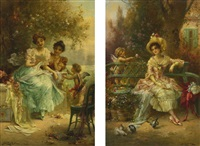 the love letter and thinking of him: two paintings by hans zatzka