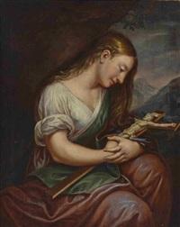 hl maria magdalena in anbetung des kreuzes by johann eberhard ihle