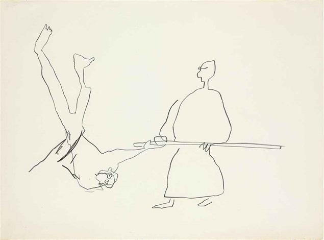 untitled karate ii by jean michel basquiat