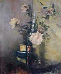 pink roses by anna airy