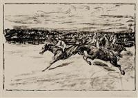 pferderennen by max liebermann