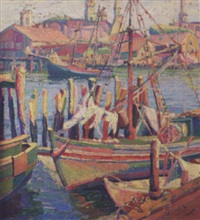 gloucester harbor by clara l. deike