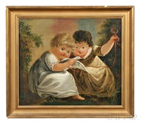 portrait of two children with a dove by william matthew prior