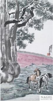 pferde im kaiserlichen park by wang qingfang