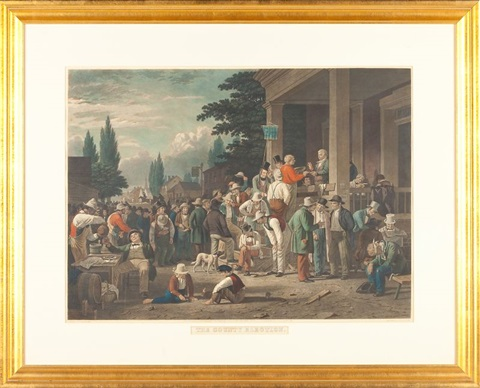 george caleb bingham the county election by george caleb bingham
