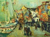 figures in the port by yitzhak frenkel-frenel