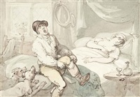 the huntsman rising by thomas rowlandson