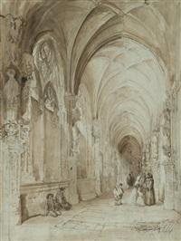 vista del claustro del convento de san juan de los reyes by genaro perez villaamil