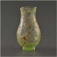 rare vase parlant de forme balustre à col quadrilobé à chaud by émile gallé