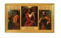 he was despised and rejected of men (triptych) by w. savage cooper
