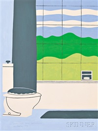 landscape with bathroom by john wesley