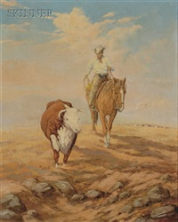 lone rider with bull by george d. smith