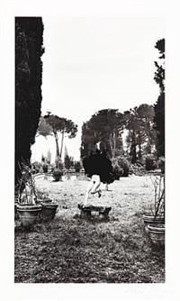 in a garden near rome 1977 by helmut newton
