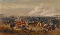 österreichische husaren im angriff by alexander ritter von bensa