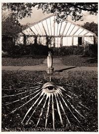 untitled: eye in garden by jerry uelsmann