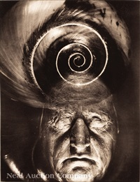 mask of goethe with spiral by edward steichen