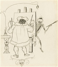 death and the painter by aubrey vincent beardsley