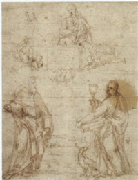die madonna erscheint dem heiligen johannes evangelist und einem weiteren heiligen by filippo (filippino) lippi