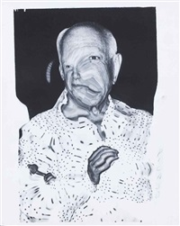 picasso, distorsion by weegee
