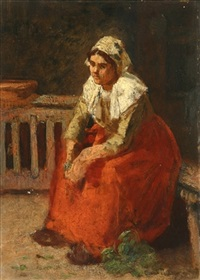 seated peasant woman by charles a. danton